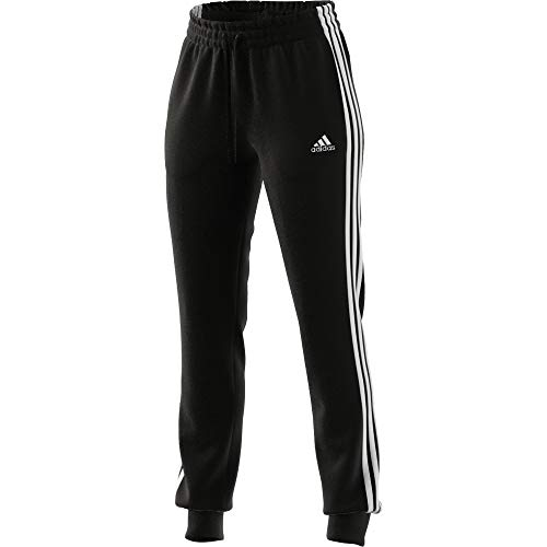 adidas Damen Essentials French Terry 3-Streifen Trainingshose, Black/White, S