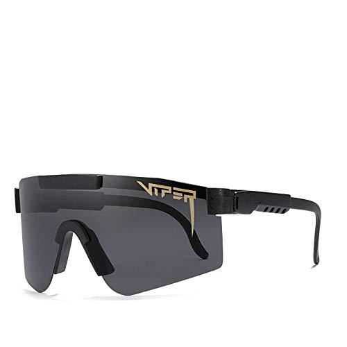 BGRFT Gafas de sol Pit Viper, doble ancho polarizado, espejo azul, lente Tr90, protección Uv400, gafas de sol deportivas para ciclismo C01