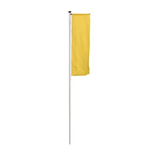 MANNUS Fahnenmast aus eloxiertem Aluminium - mit Zylinderschloss, Ø 100 mm, mit drehbarem Ausleger - Höhe über Flur 9 m - Fahne Fahnen Fahnenmast Fahnenstange Flagge Flaggen Flaggenmast Flaggenmasten