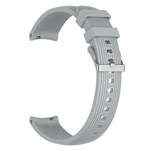 Pulseiras compatíveis com -Galaxy Watch R800/R810/R815 pulseira de silicone com listras retas de 20/22 mm para mulheres e homens