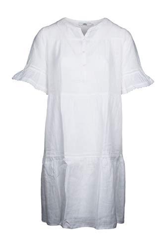 0039 Italy Damen Kleid Ricci aus Leinen weiß - S