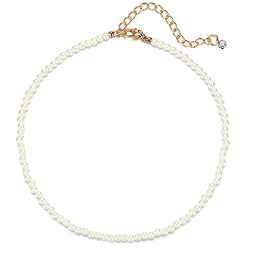 FGFDHJ Collar de Gargantilla de Cadena de Bloqueo para Mujer, Gargantilla de eslabones de Cadena Grande de Oro, Collares, Collar de Cuentas de arcoíris, Fiesta
