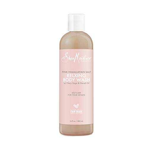 SheaMoisture Relaxing Body Wash All Skin Types Cruelty Free Skin Care Made with Fair Trade Shea Butter, Pink Himalayan Salt, Sage, 13 Ounce