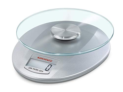 Soehnle Roma Silver Digital Kitchen Scales, Scales, Food Preparation Scales, 65856