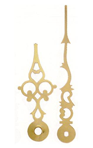 Zeigersatz antiker Stil Louis XVI Eurolochung Messingfarben 87mm Junghans 817 838 Zeiger