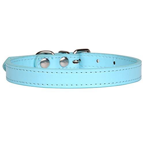 Collar para Mascotas PU Tela De Cuero Hebilla De Alambre De Metal Cabeza 16 Colores Collar De Perro Grande De Varios TamañOs