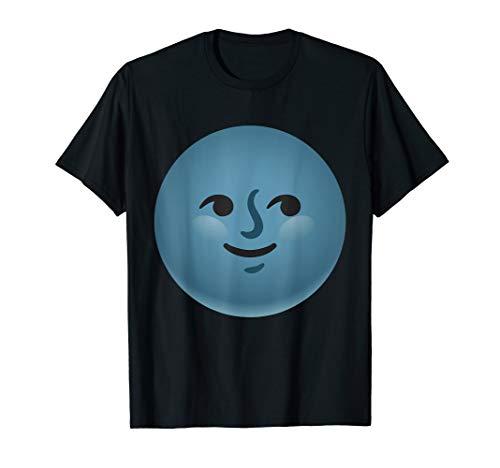 Creepy New Moon Dark Face Emoji Costume Gift T-Shirt