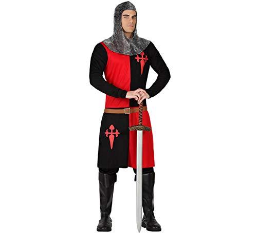 Atosa-57561 Disfraz Caballero Cruzadas, Color Rojo, XS-S (57561)