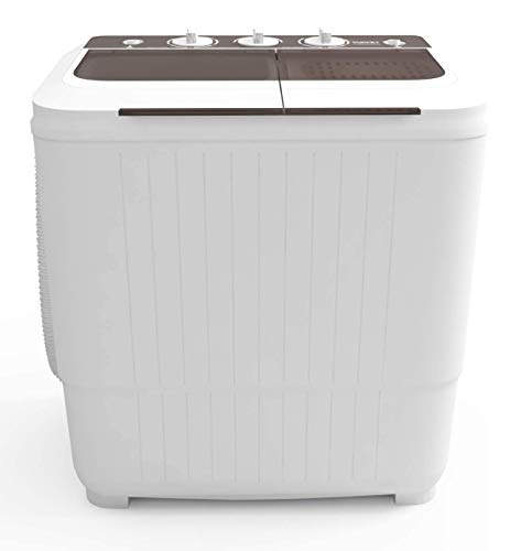 Portable Washing Machine, KUPPET 16.5lbs Compact Mini Washer, Wash&Spin Twin Tub Durable Design to Wash All your Laundry or Swim Suit for Apartments, Dorms, RV Camping