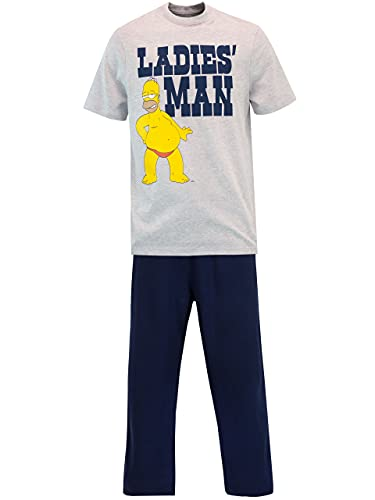 The Simpsons Pijama para Hombre Homer Simpson Multicolor Size Large