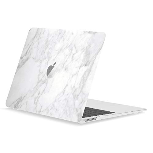 TOP CASE MacBook Air 13 Inch Case 2020 2019 2018 Release A1932/A2179, Classic Series Marble Pattern Hard Case Compatible MacBook Air 13' with Retina Display fits Touch ID - Marble White