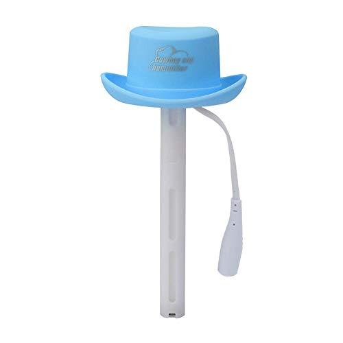 Mini USB-luchtbevochtiger Hoedvorm Luchtbevochtiger Van toepassing op flessen mineraalwater Mode-luchtreiniger voor thuiskantoor(Blauw)