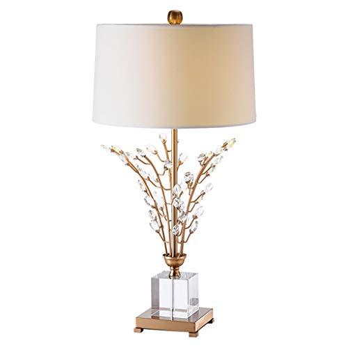Lámpara de noche Lámpara de lectura de ojos Estudio lámpara de mesa de cristal de lujo American dormitorio lámpara de cabecera European Hotel Club Sala de estar lámpara de mesa Luz de escritorio