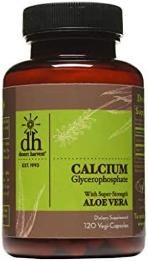Desert Harvest Calcium Glycerophosphate 120 Capsules 230mg Per Capsule Removes Up to 95 of Acid product image
