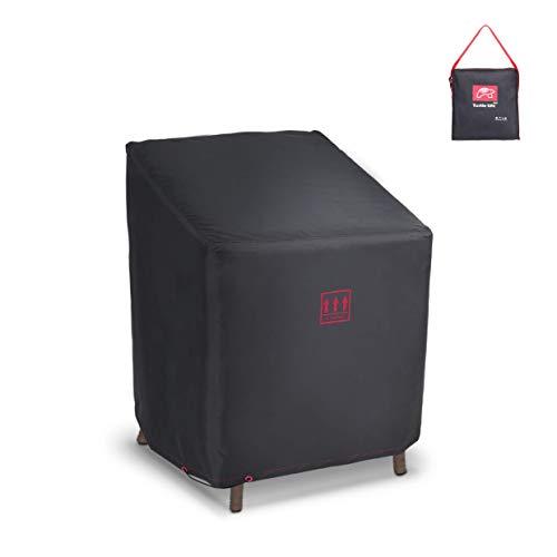 Turtle Life Funda para sofá de patio, duradera, resistente al agua, cubierta para muebles de interior y exterior, con ventilación de aire, color negro, 79 x 94 x 76 cm