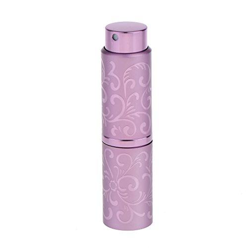 Sharplace 15ml Vaporisateur Voyage Portable Rechargeable Vide Atomiseur de Parfum Flacon de Pulvérisation Bouteille Cosmétique à Lotion - Violet