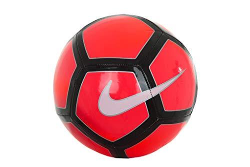 Nike Pitch - Balón de fútbol, Color Shiny Crimson/Red/White (Bright Crimson/University Red/White), tamaño 5