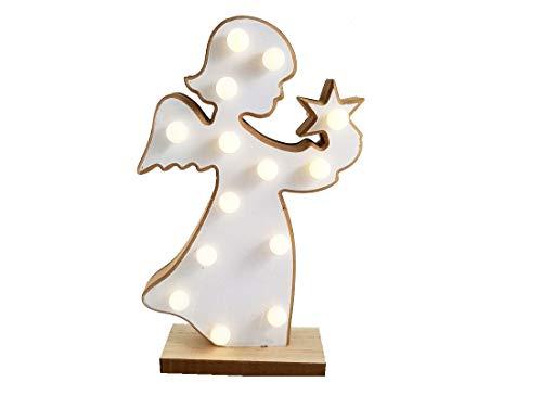 SUD IRPOT SRL Articoli Decorativi con luci a Batteria Albero Natale Angelo angioletto Regalo (ANGIOLETTO XD12420, 30 CM)