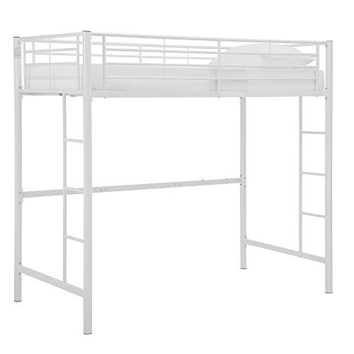 Walker Edison Twin Metal Loft Bed