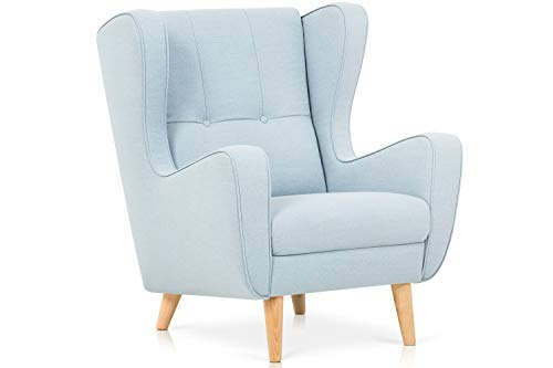Confort24 Doris Sessel Wohnzimmer Living Room Stillzimmer Relax skandinavische Füße Holz