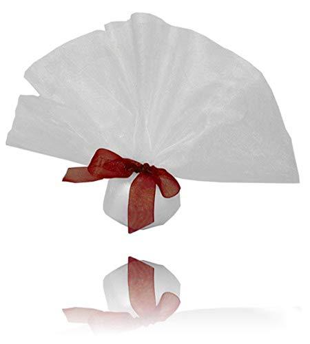 EinsSein 20x Tüllkreise weiß-Organzasäckchen Hochzeitsmandeln Gastgeschenk Organzabeutel