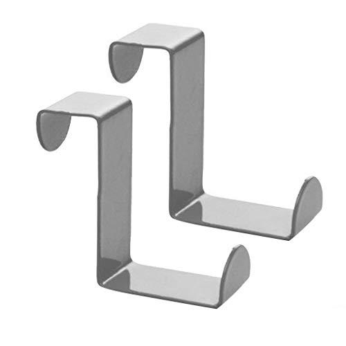 Techting 2ST über Tür Haken Edelstahl-Kabinett-Fach Hanging Schwingtor Haken Edelstahl über Haken Büro Küchentuch Kleiderbügel
