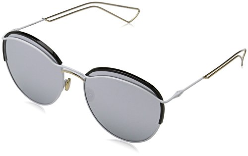 Dior Damen DIOROUND DC 4U9 Sonnenbrille, Weiß (Matte White/Extra White Marl), 57