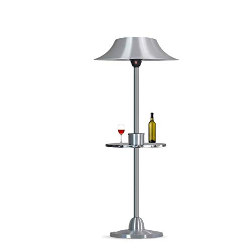 Sunlike Electric Patio Heater 2000W Free Standing - Heating, Outdoor, Garden, Weatherproof Safety Rated to IPX4 - Height Adjustable With 2 Heat Settings & 45 Degree Tilt Angle,Automatic Power-off