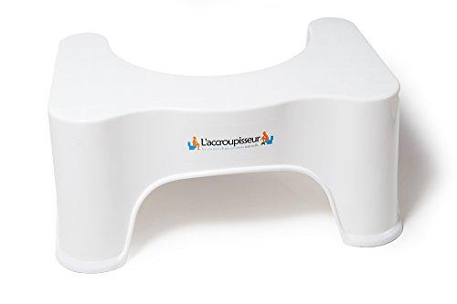 Top Life Taburete Fisiológico Recomendado por los Médicos - Adopta la Posición Natural Anti Estreñimiento - Taburete WC para Inodoro - Ergonómico, Práctico y Discreto