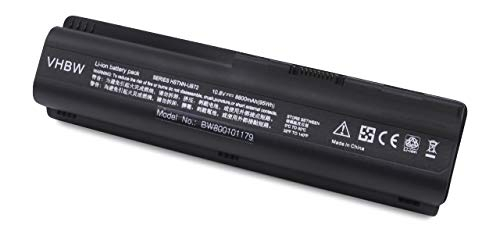 vhbw Batterie LI-ION 8800mAh 10.8V Noir Compatible pour HP remplace HSTNN-CB72, HSTNN-W50c, HSTNN-XB72, HSTNN-XB73, KS524AA