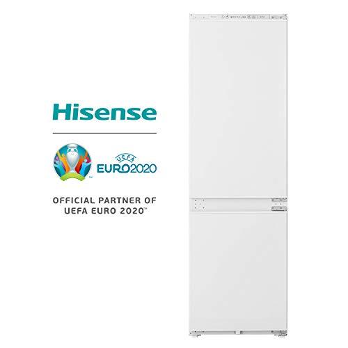 HISENSE RIB312F4AW1 Frigorifero Combinato a libera installazione Total No Frost, Classe Energetica A+ e Display di controllo LED, Colore Bianco, Altezza 177,2 cm, capacità netta 240 L