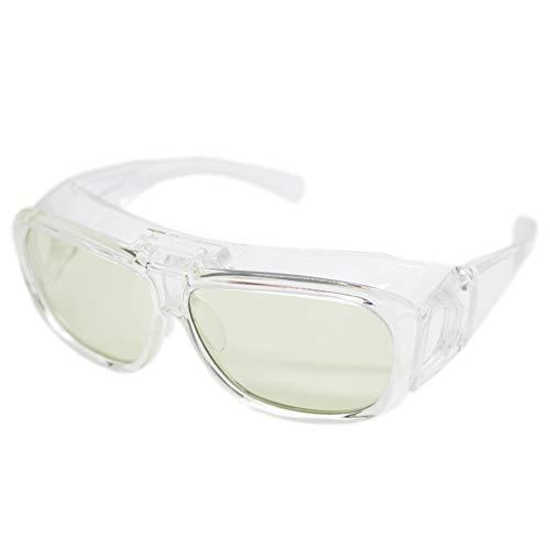 (エイトトウキョウ)eight tokyo ブルーライトカット メガネ タイプ ルーペ 跳ね上げ メガネの上から メンズ レディース UVカット 近赤外線カット 高性能レンズ [ 鯖江メーカー企画 ] HANE-LOUPE-CL