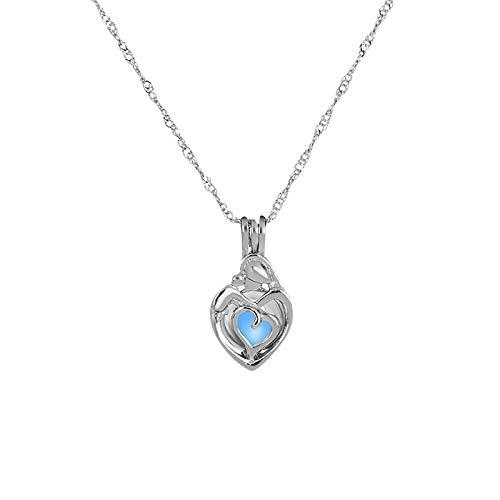 CHIYANG Ketten Damen Halskette Mutter Geschenk Liebe Anhänger Micro Inlaid Anhänger Herzförmige Schmuck Halskette Modeschmuck Muttertagsgeschenk Frauen MaMa
