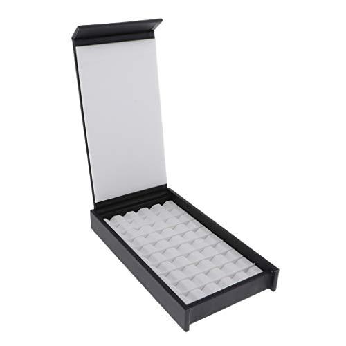 Harilla Caja De Almacenamiento De Joyas De PU Mostrar Gema De Piedras Preciosas Cace con 10 Filas 50 Cuadrículas Lugar