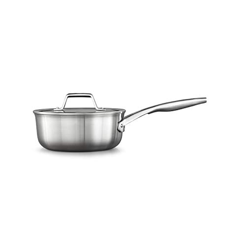 Calphalon Premier Stainless Steel 2.5-Quart Saucepan with Cover, Silver