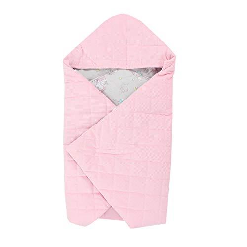 TupTam Baby Winter Einschlagdecke für Babyschale, Farbe: Einhorn Grau/Rosa, Größe: ca. 75 x 75 cm