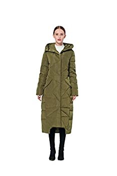 womens ankle length winter coat with hood