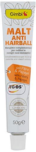 Gimbi Pasta antibola de Pelo de Malt – Snack Saludable para roedores con Malta y Fibra Que Ayuda a la digestión – 1 Tubo (1 x 50 g) ⭐