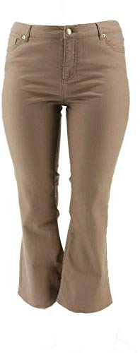 Liz Claiborne NY Jackie Boot Cut 5-Pocket Jeans Mocha 14P New A240855