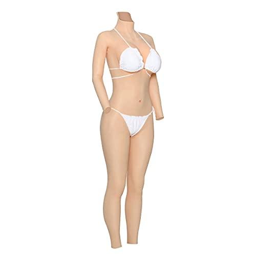 Cyomi Silikonbrüste Brustformen Brustprothese künstliche brüste Vagina Slip Bodysuit mit Katheter für Crossdresser Transgender Mastektomie - D Cup,No.1