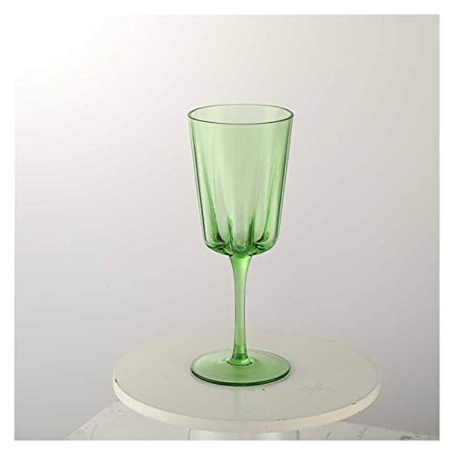 Vidrio Tazas De Agua Copas De Vino Manzana Verde Color Champagne Vidrio Ensalada Fresca Cuenco Fruta Tazón Taza De Vidrio De Cerveza (Color : Wine Glass)