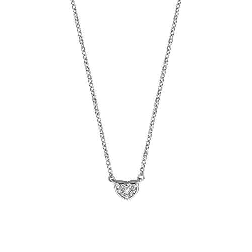 Esprit ESNL00981142 Damen Collier Herz Devotion Sterling-Silber 925 Silber 45 cm