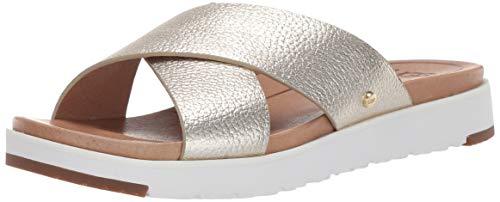 UGG Damen Kari Metallic Sandale, Gold, 40 EU