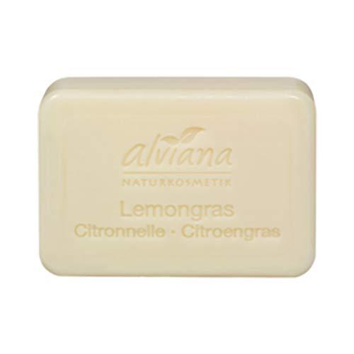 Alviana Naturkosmetik Pflanzenöl-Seife Lemongras 100 g