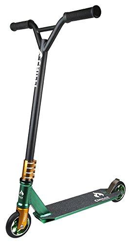 Chilli Pro Scooter 5000 Greenery | Grün-Schwarzer Pro-Scooter für Einsteiger & Profis | Robuster Roller, drehbarer Lenker ideal für Tricks geeignet | 84cm Gesamthöhe für Kinder & Jugendliche