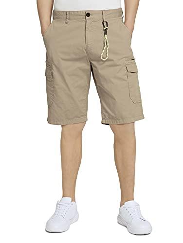TOM TAILOR Denim Herren 1024567 Cargo Bermuda Shorts, 11036-Smoked Beige, M