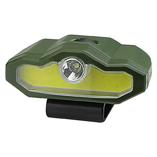 Berrywho Cap Clip Luz Multifona Multifonea Led Capa De Fuera De Fuerza Para Pesca Corrección Cligino Ejercicio Ejército Verde