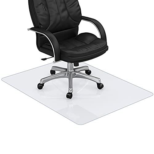 EUBSWA Schreibtischstuhl Unterlage, Bodenschutzmatte Transparent, Parkettschoner, PVC Stuhlunterlage, für Laminat, Parkett, Hartböden, Hohe Schlagfestigkeit, rutschfest, Lärm Reduzieren (50x70cm)