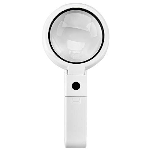 TMISHION 5 / 11X vergrootglas met 8 LED licht Hnadheld Desktop Multifunctionele leeshulp voor lezen en hobby's