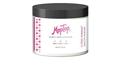 8oz, MopTop Curly Hair Custard Gel for Fine, Thick, Wavy, Curly & Kinky-Coily Natural hair, Anti Frizz Curl Moisturizer, Definer & Lightweight Curl Activator w/Aloe, great for Dry Hair.